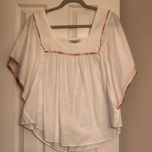 Madewell Linen White Top